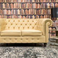 Classic Deluxe 2 személyes Chesterfield bőr kanapé