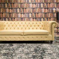 Classic Deluxe Chesterfield bőr ülőgarnitúra