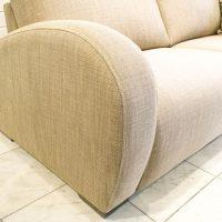 Deco modern kanapé lekerekített karfával