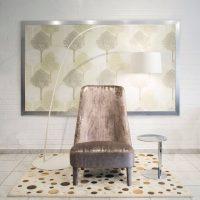 Max design fotel, magasított háttámlával, metál fénnyel