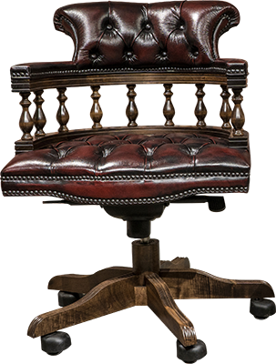 Captains chair chesterfield forgószék