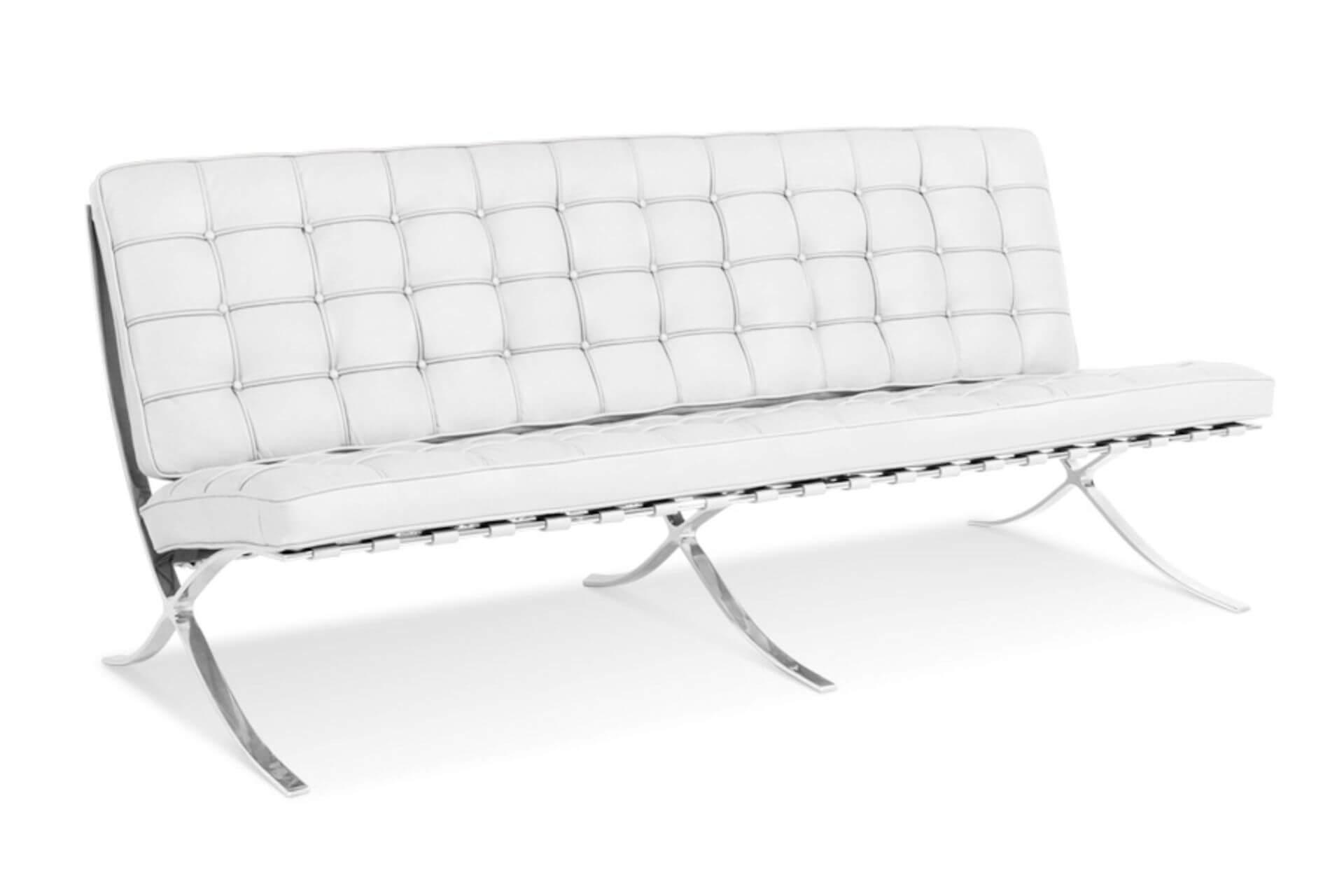 Fehér barcelona fotel